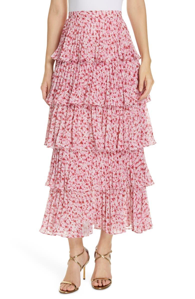 AMUR Paisley Floral Print Maxi Skirt, Main, color, 650