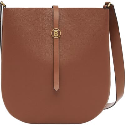Burberry Anne Grainy Leather Bag - Brown