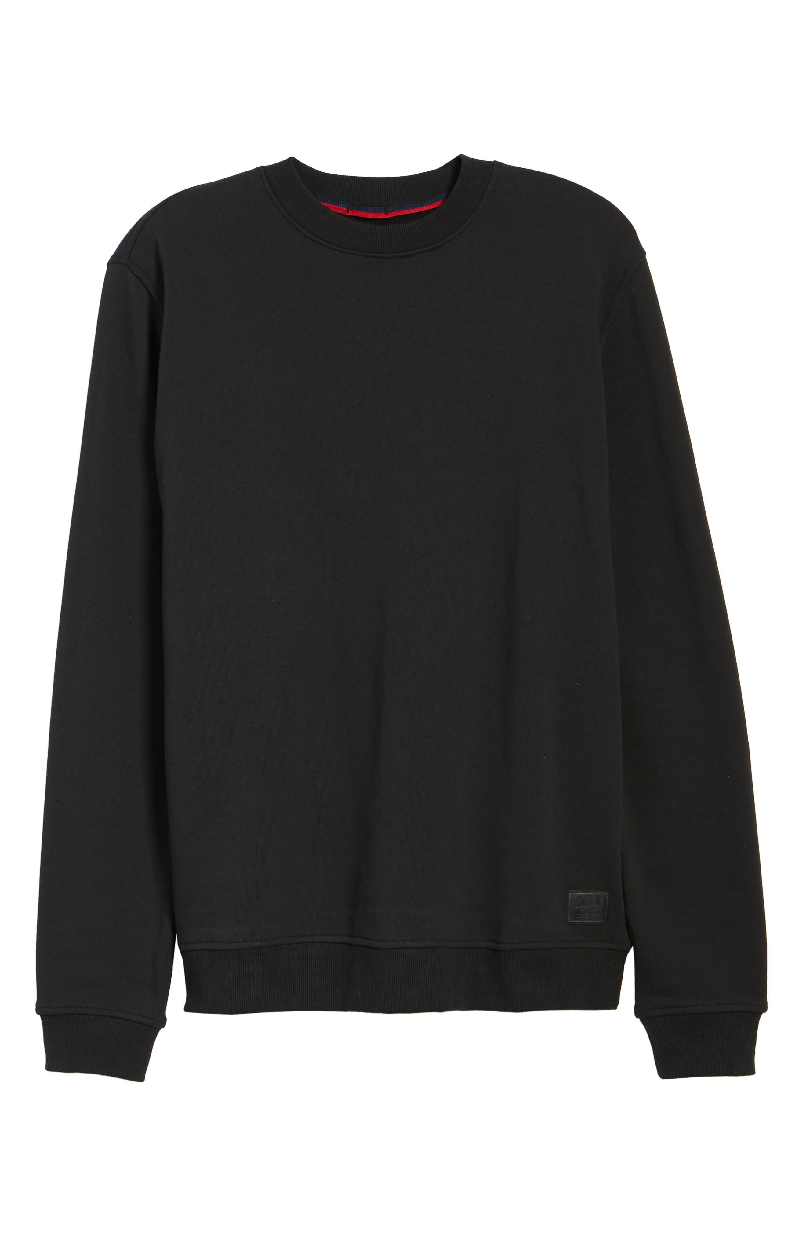 ,                             Crewneck Sweatshirt,                             Alternate thumbnail 6, color,                             BLACK