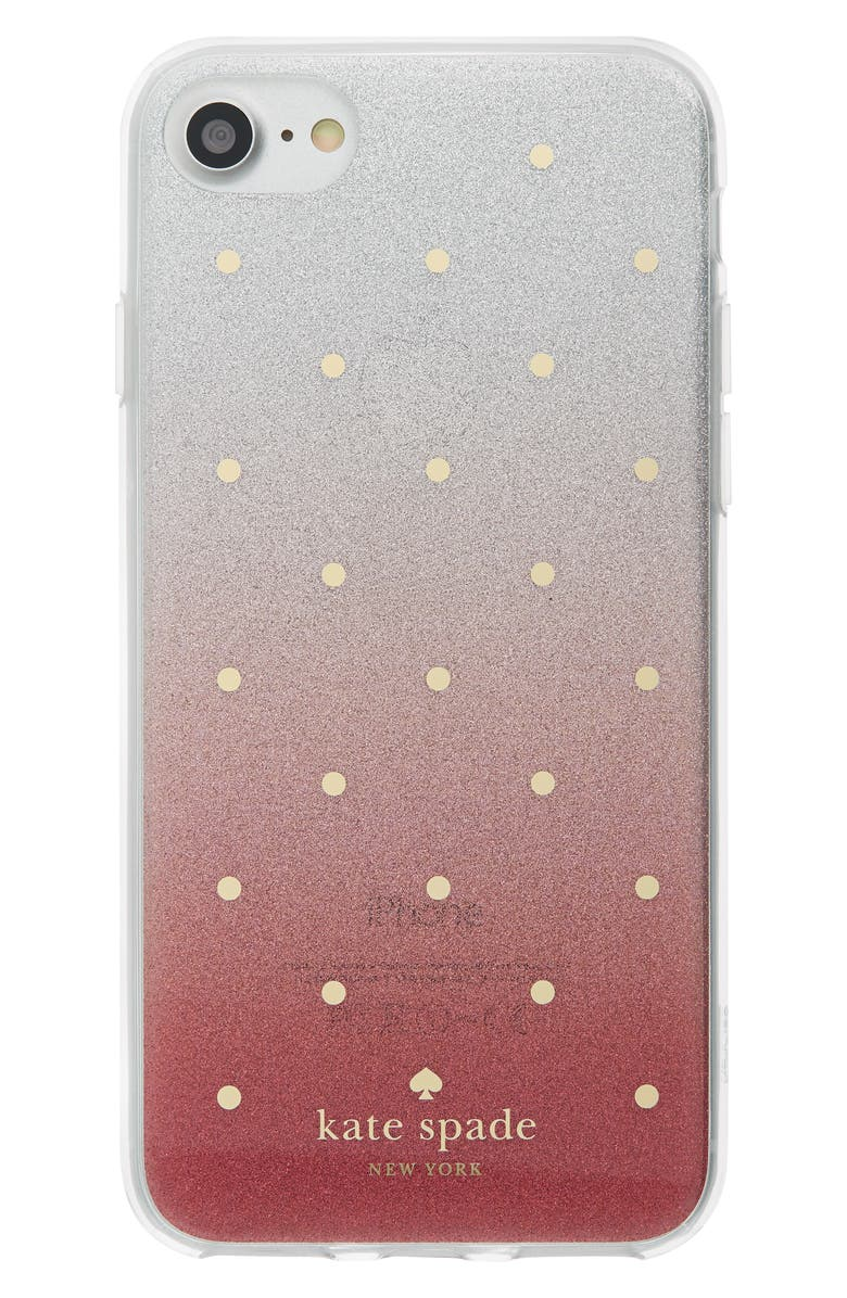 watch 6317e fd4ca kate spade new york glitter ombré iPhone 7/8 & 7/8 Plus case | Nordstrom