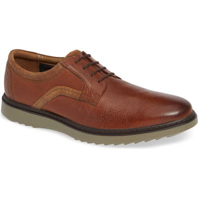Clarks Un Geo Lace Plain Toe Derby- Brown