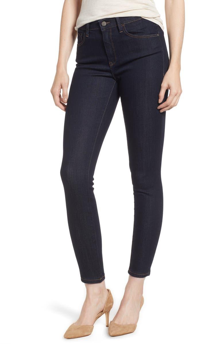MAVI JEANS Tess High Waist Skinny Jeans, Main, color, RINSE SUPER SOFT