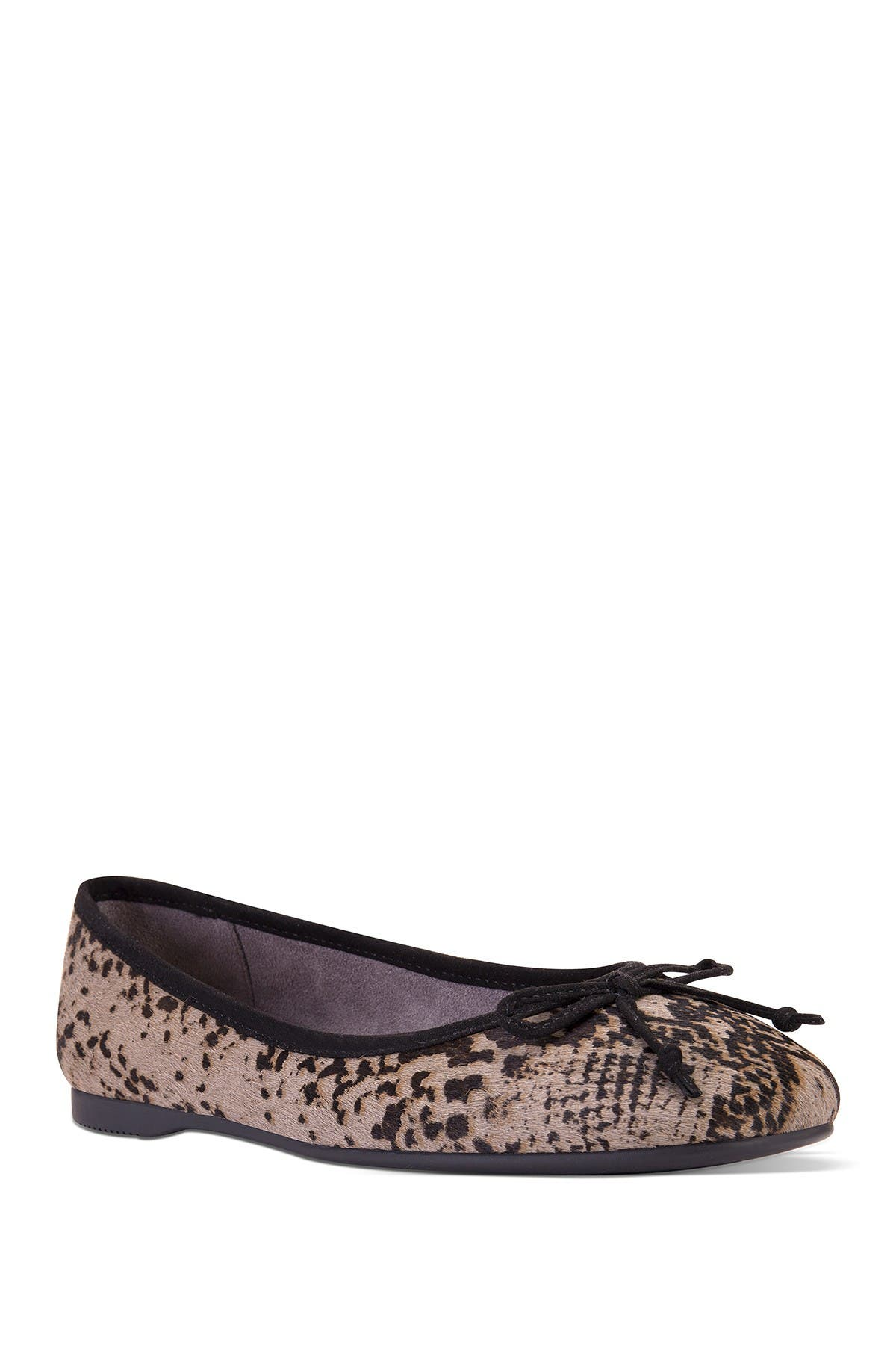 Image of Me Too Hilly Snake Print Genuine Calf Hair Ballet Flat