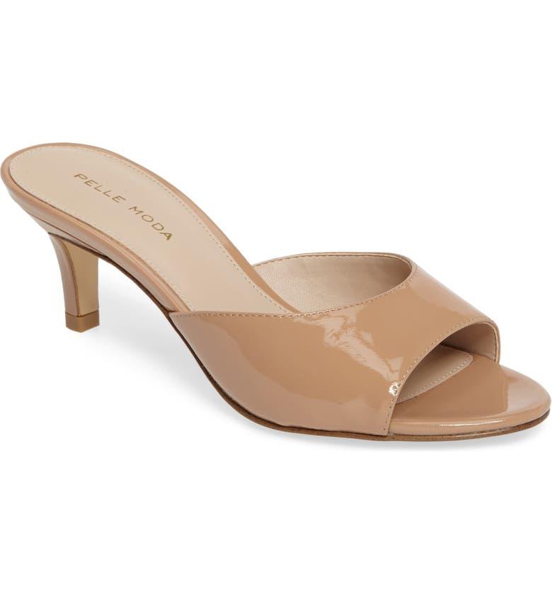 PELLE MODA Bex Kitten Heel Slide Sandal, Main, color, BLUSH
