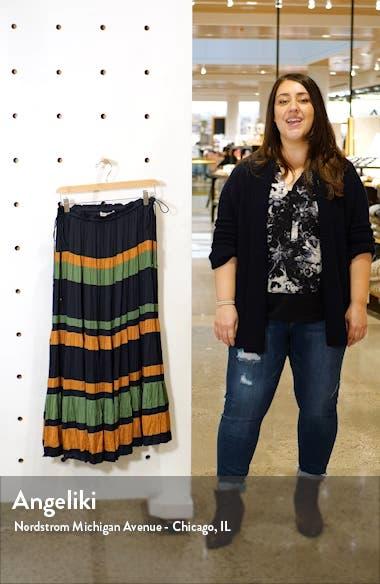 Avelina Stripe Skirt, sales video thumbnail