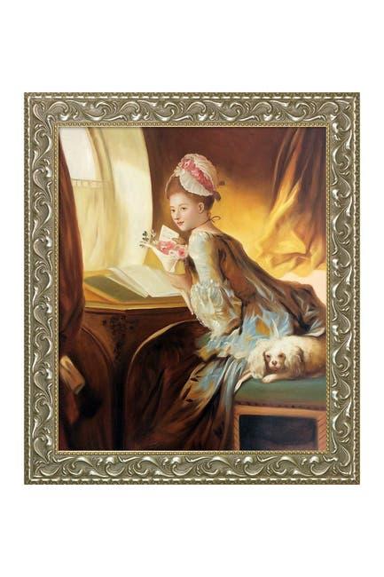 "Image of Overstock Art Jean-Honore Fragonard ""The Love Letter, 1770 "" Framed Hand Painted Oil Reproduction"