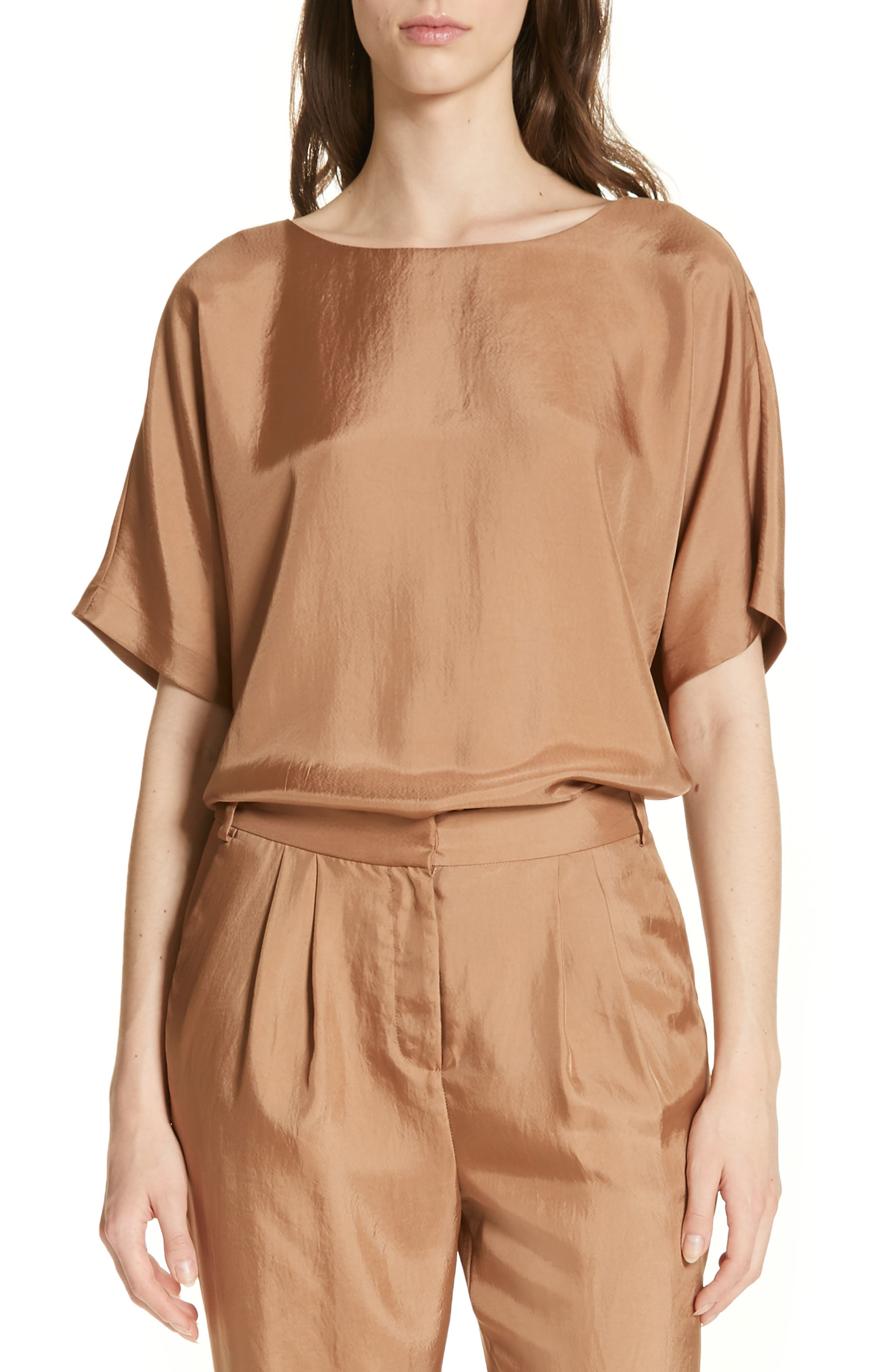 Mendini Twill Easy Top, Main, color, SABLE BROWN