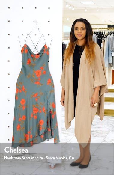 Gaia Strappy Bias Cut Satin Midi Dress, sales video thumbnail