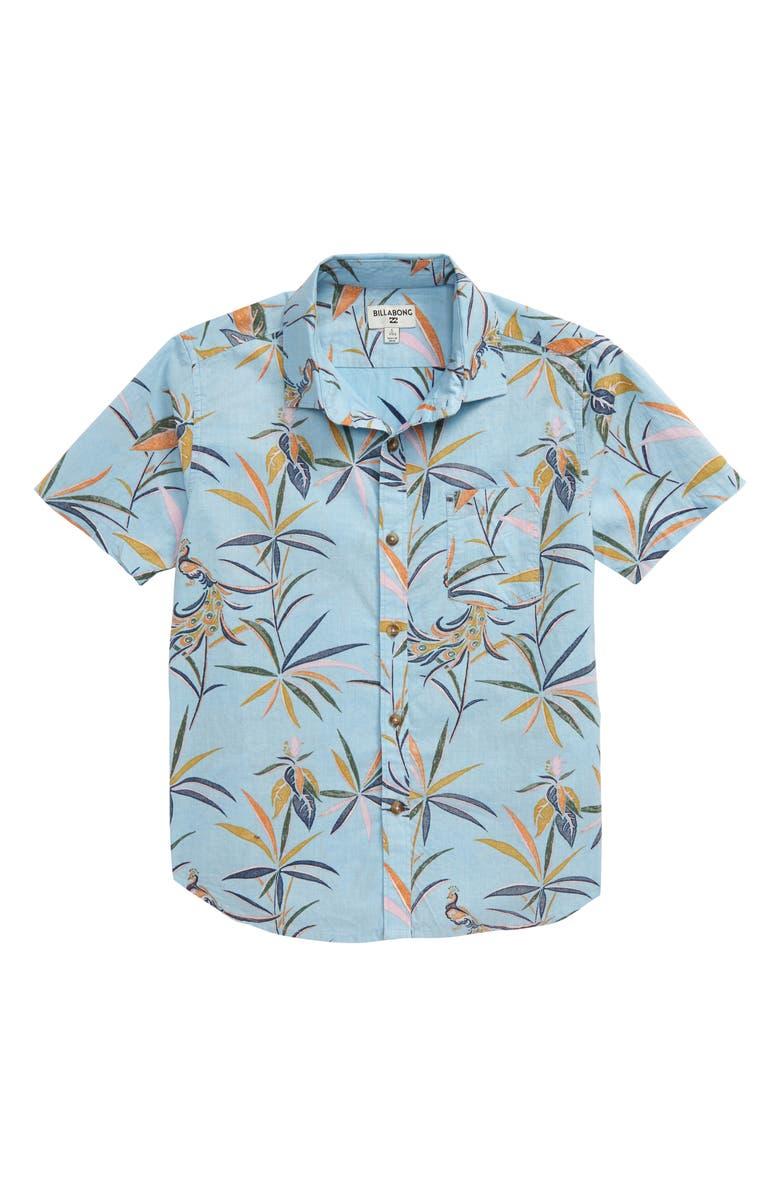 BILLABONG Sundays Woven Button-Up Shirt, Main, color, MIST