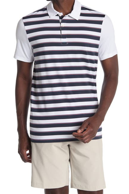 Image of Oakley Horizontal Stripe Golf Polo