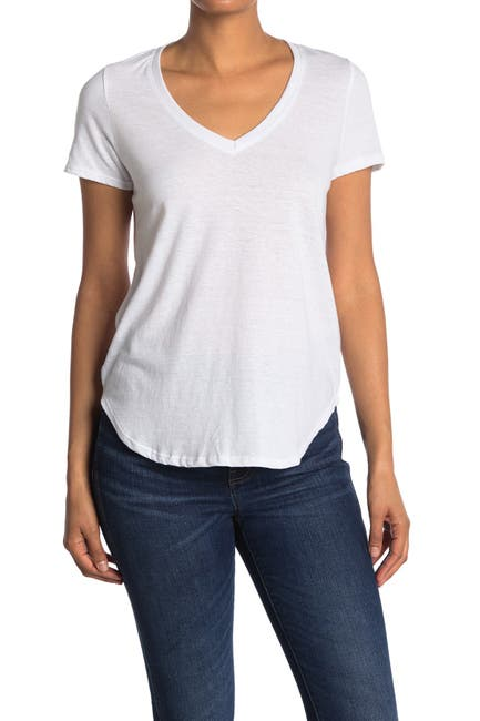 Image of We My People V-Neck Curved Hem Tunic T-Shirt