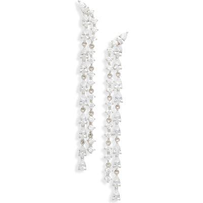 Nordstrom Double Row Linear Earrings