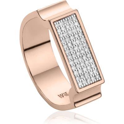 Monica Vinader Diamond Signature Wide Ring