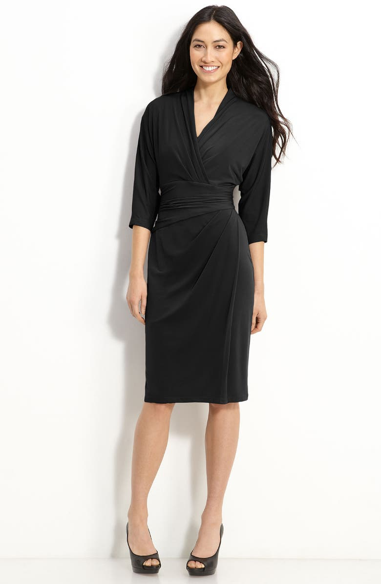 SUZI CHIN FOR MAGGY BOUTIQUE Faux Wrap Jersey Dress, Main, color, 001