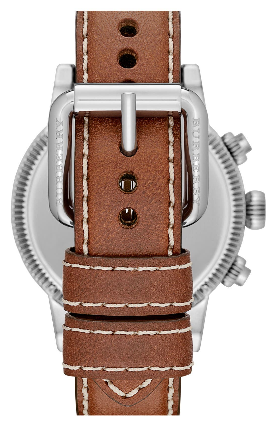 ,                             Round Leather Strap Watch, 42mm,                             Alternate thumbnail 8, color,                             200