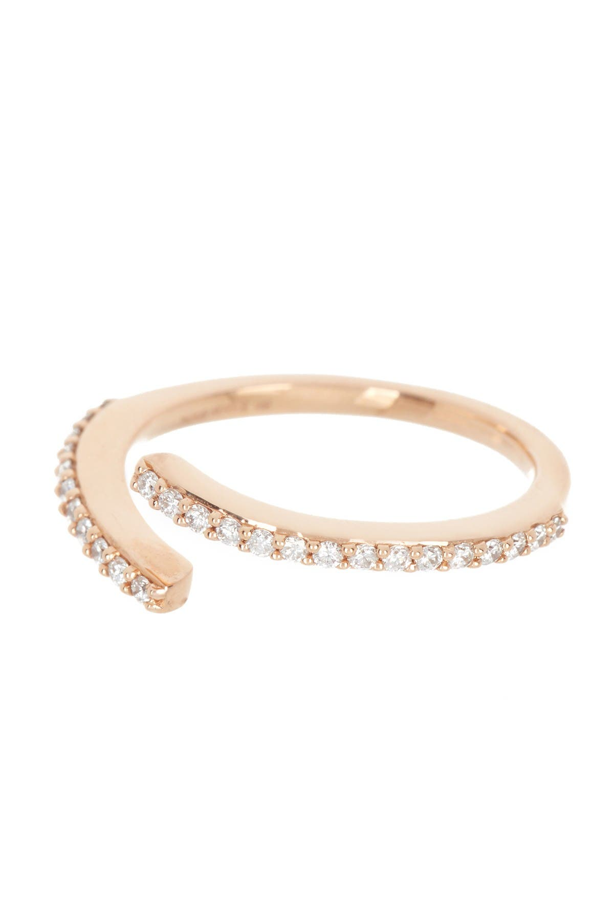 Image of Paige Novick 18K Rose Gold Converge Pave Wrap Ring - Size 7