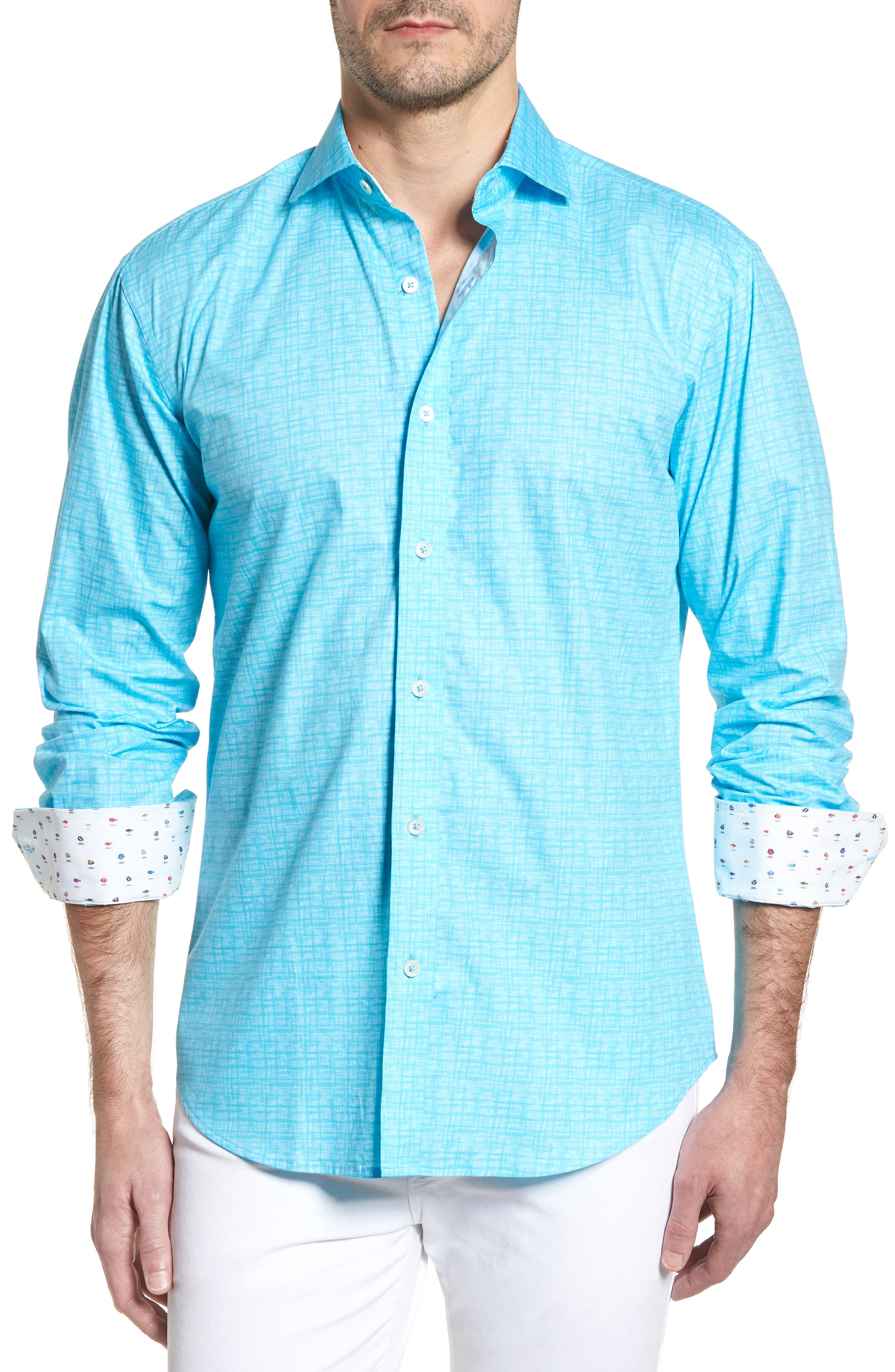 ,                             Shaped Fit Freehand Sport Shirt,                             Main thumbnail 7, color,                             315