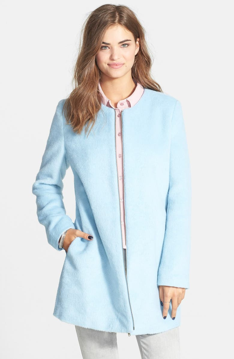 TULLE Long Bouclé Coat, Main, color, 400
