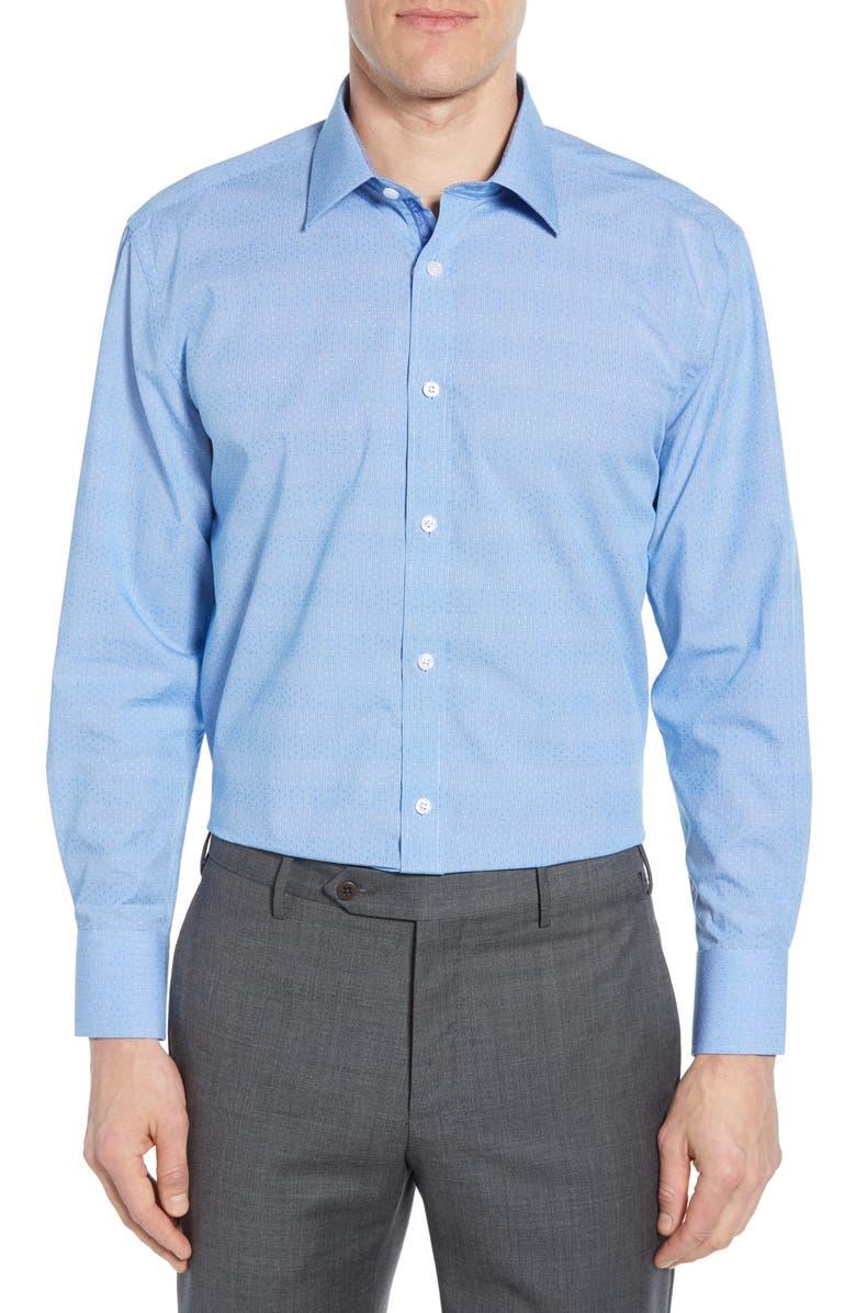 ENGLISH LAUNDRY Trim Fit Dot Dress Shirt, Main, color, 420