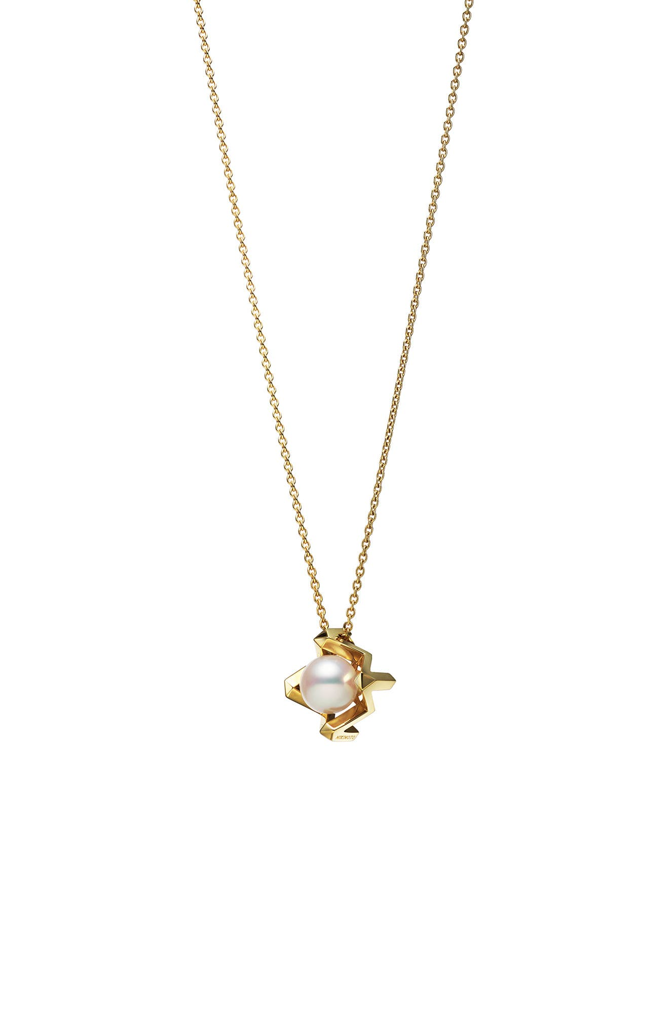 M Cultured Pearl Pendant Necklace
