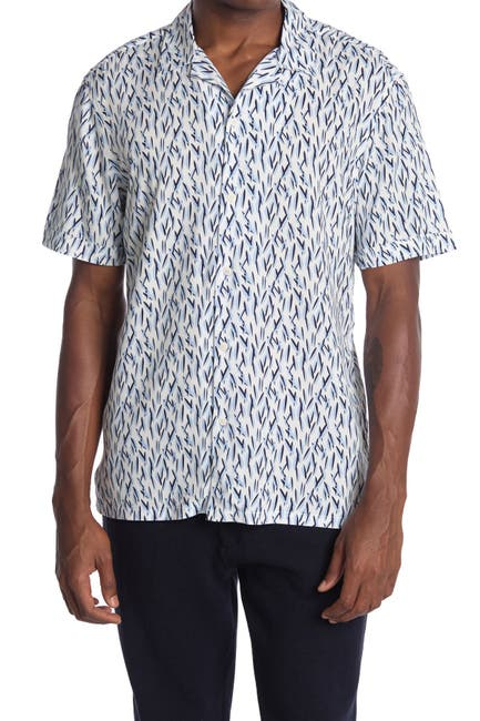 Image of Toscano Short Sleeve Surf Board Print Shirt