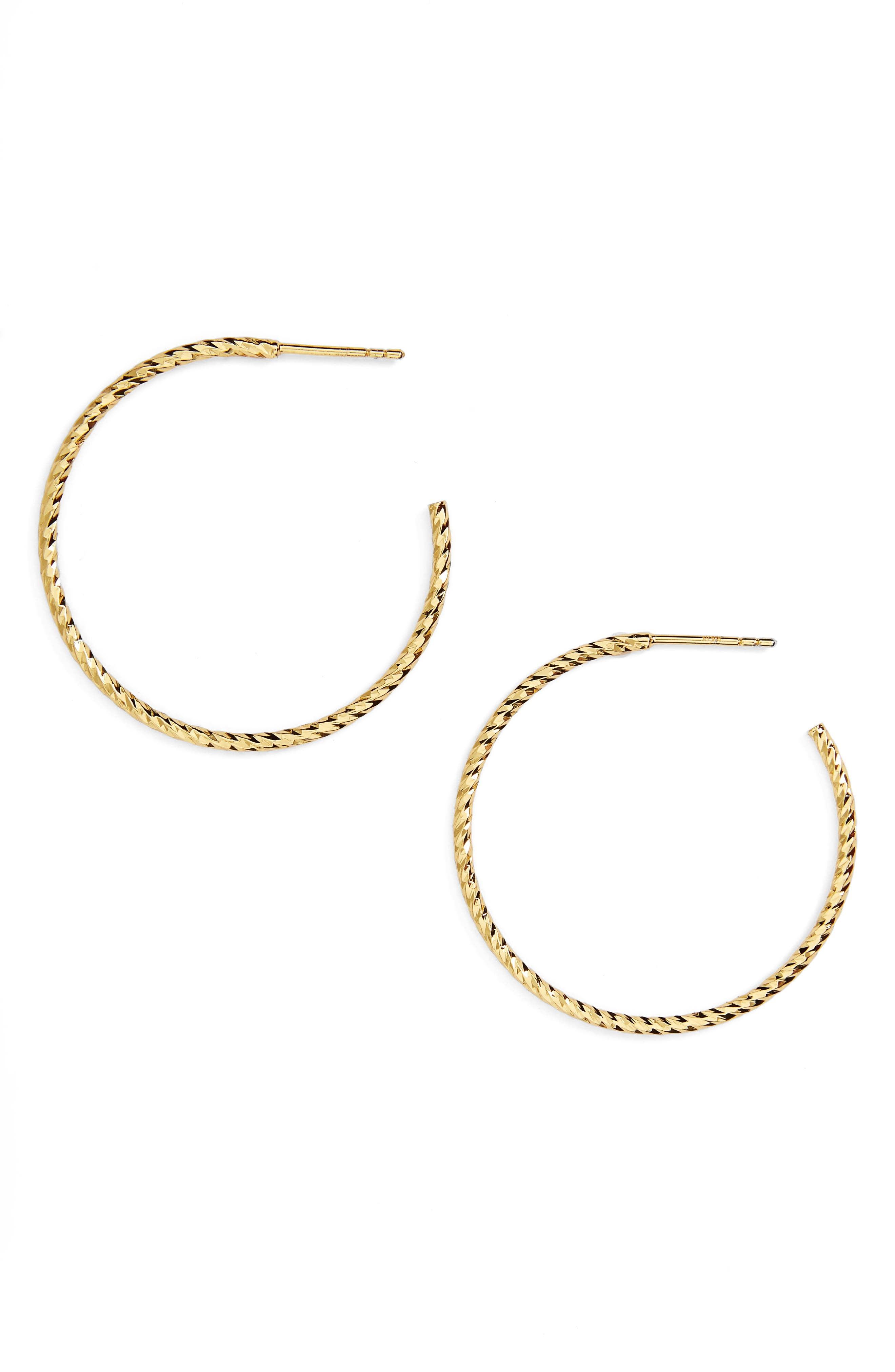Women's Argento Vivo Textured Hoop Earrings
