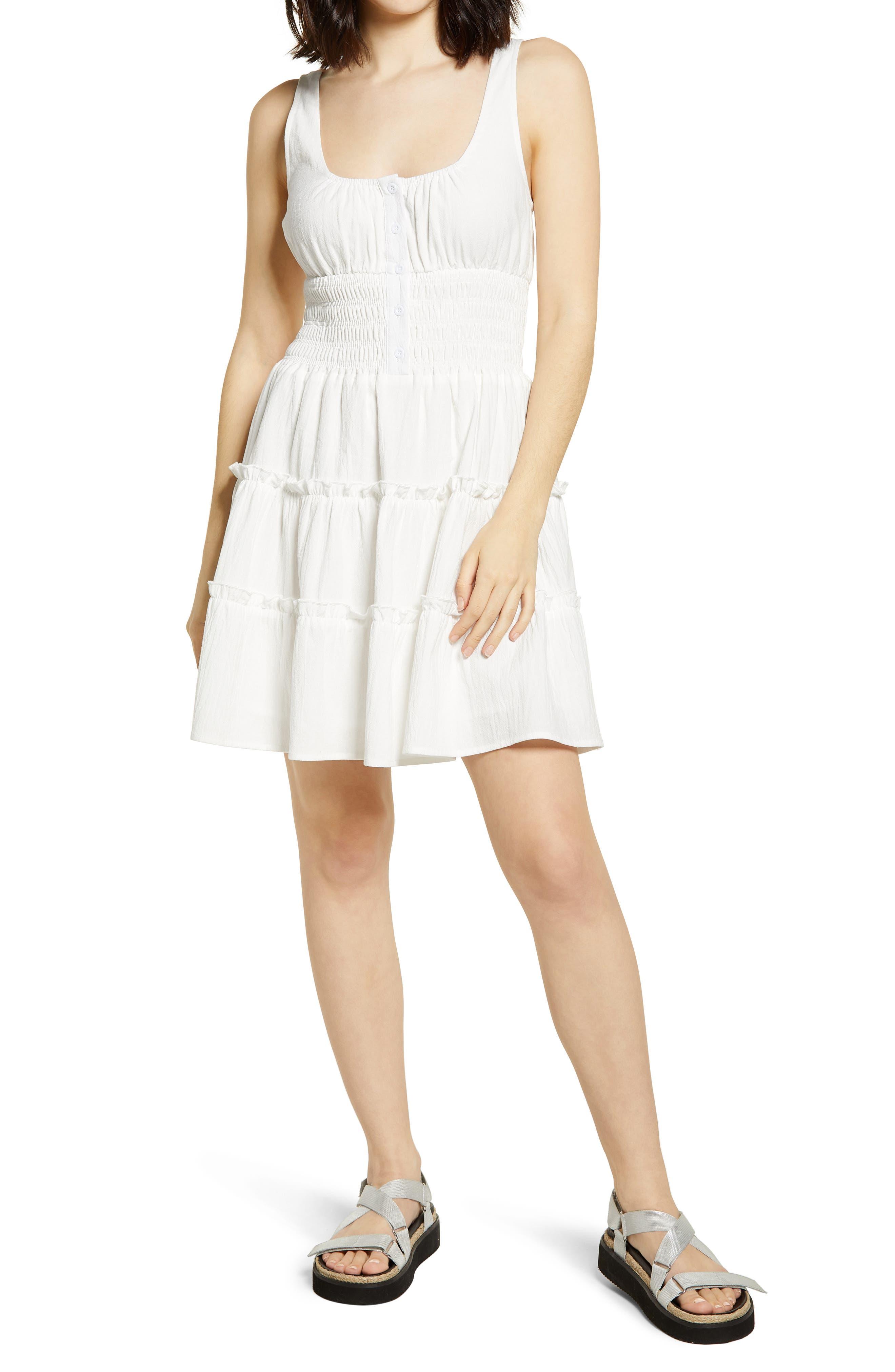 Your Sunny Day Sleeveless Smocked Minidress