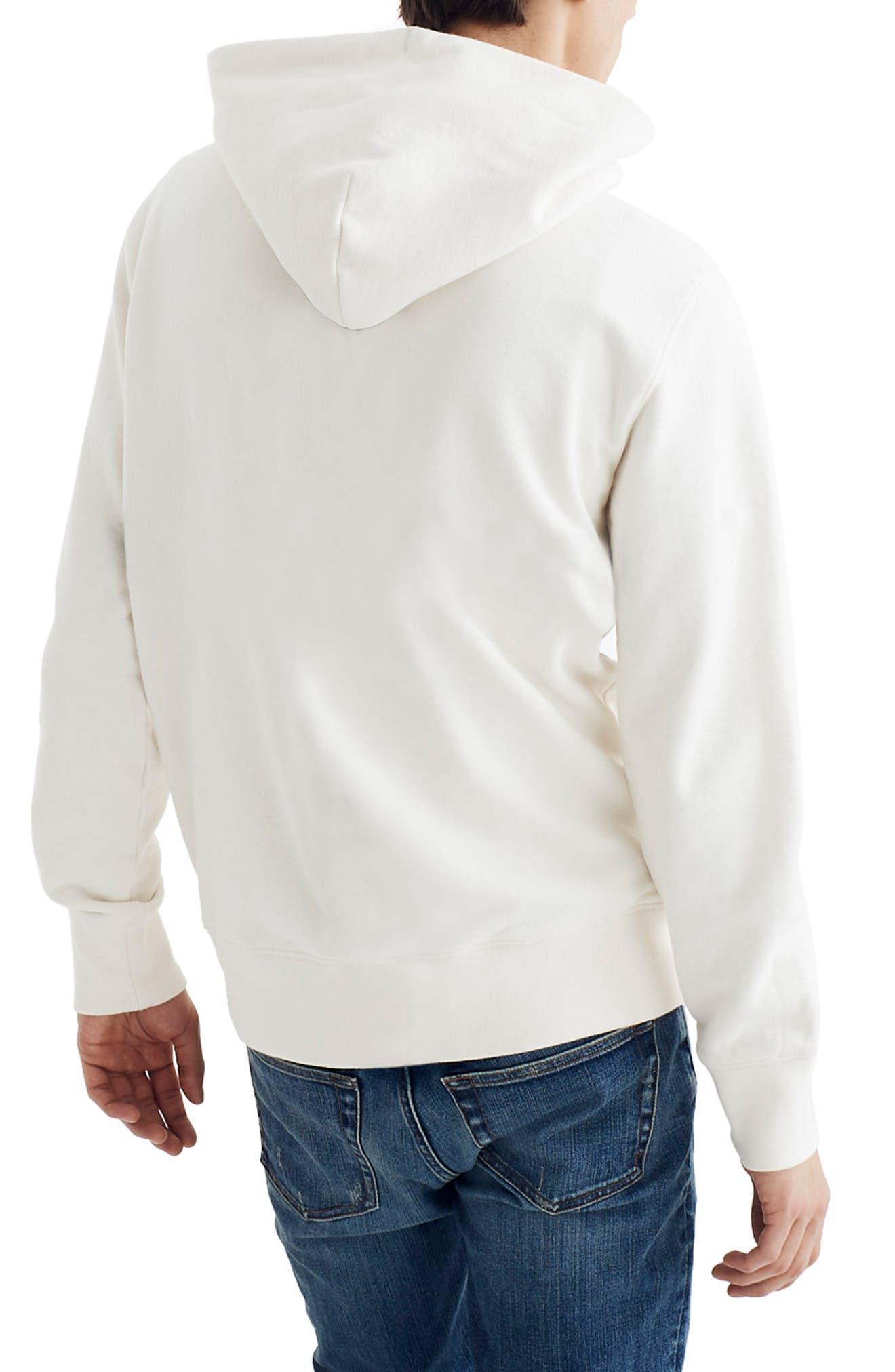 ,                             Hooded Sweatshirt,                             Alternate thumbnail 2, color,                             PEARL IVORY