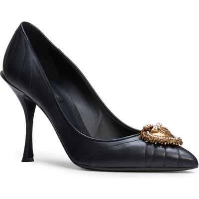 Dolce & gabbana Devotion Pointy Toe Pump - Black