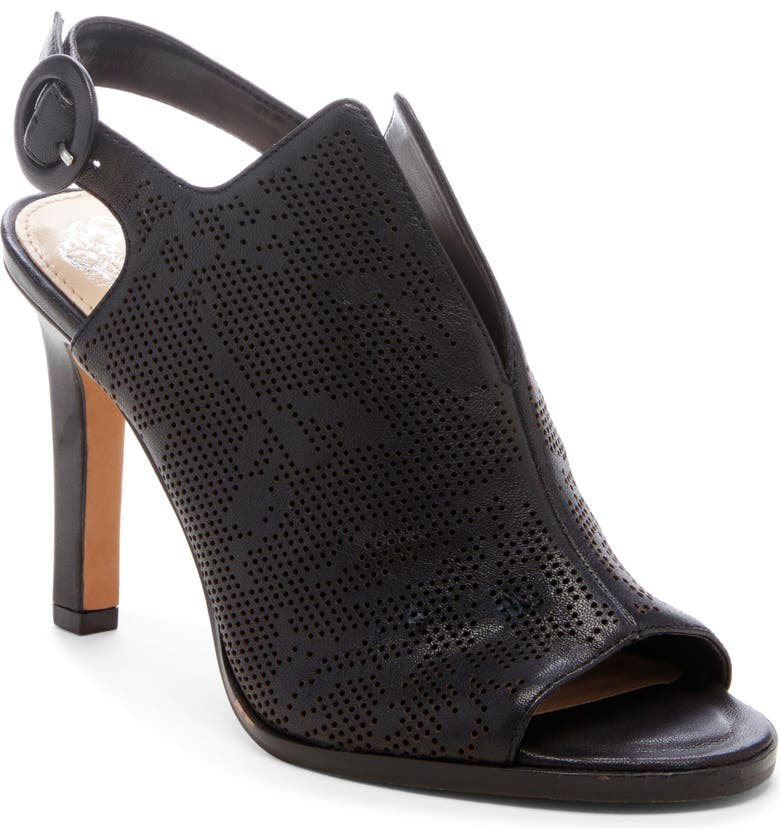 VINCE CAMUTO Nattey2 Shield Slingback Sandal, Main, color, BLACK LEATHER