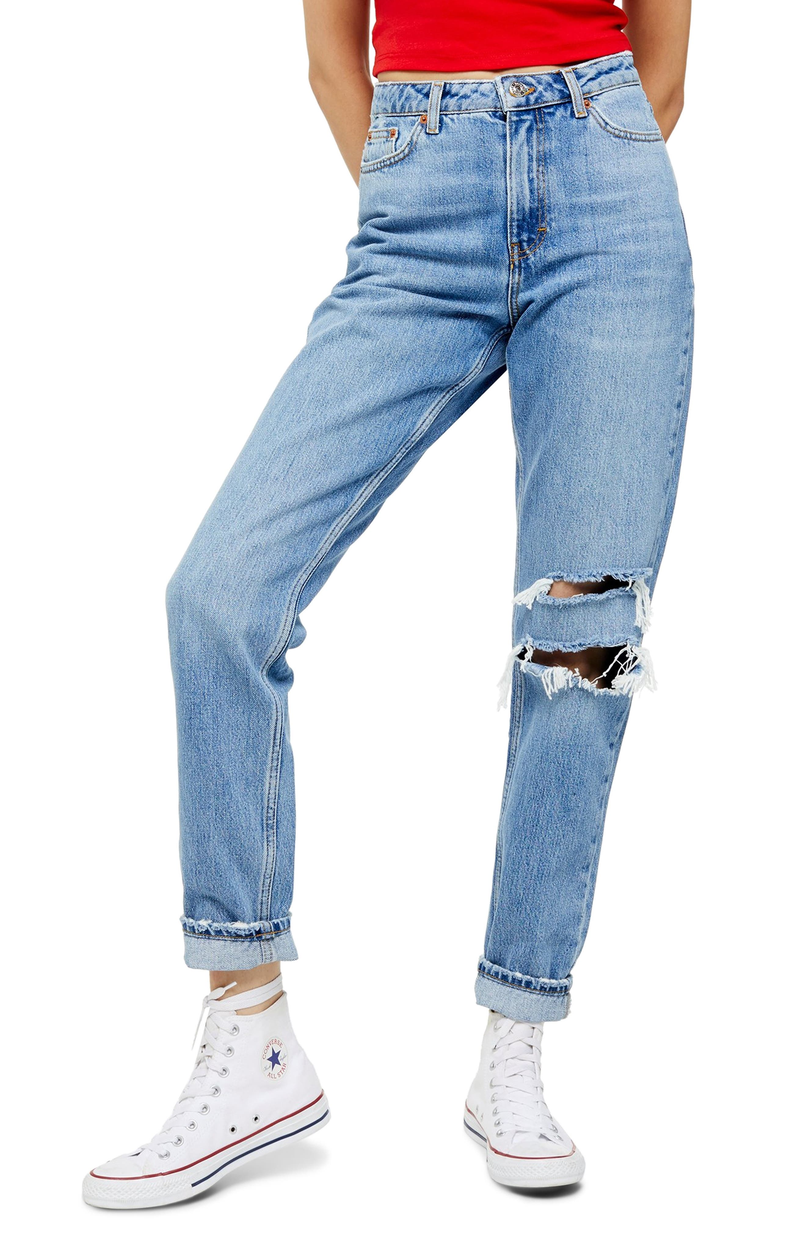 Topshop Seoul Ripped Mom Jeans