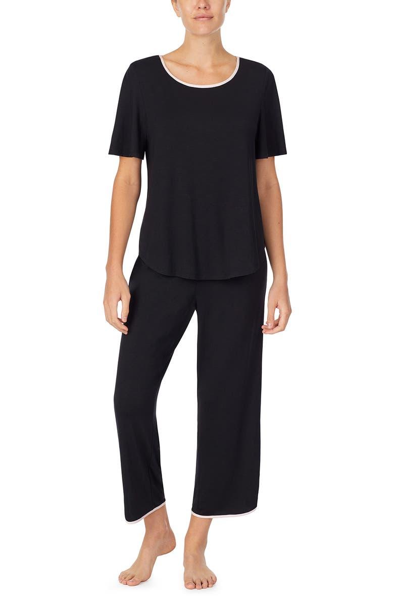 KATE SPADE NEW YORK dot print pajamas, Main, color, BLACK