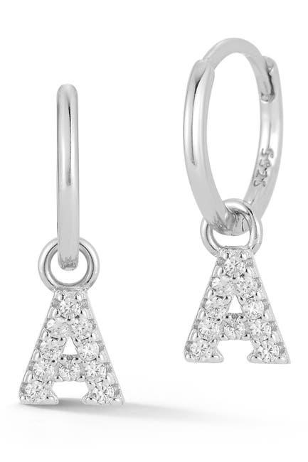 Image of Sphera Milano Silver Initial Earrings