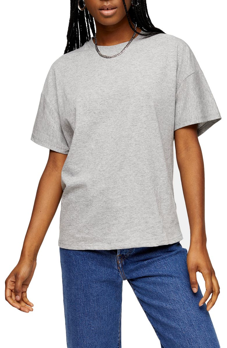 TOPSHOP Weekend T-Shirt, Main, color, GREY