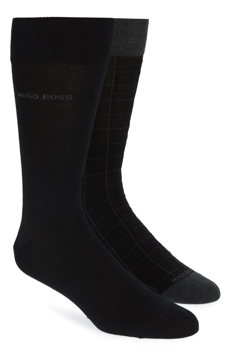 BOSS 2-Pack Wool Blend Socks, Main, color, 001