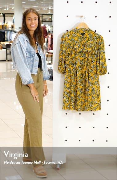 Floral Print Pleat Minidress, sales video thumbnail