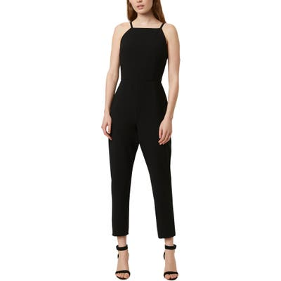French Connection Whisper Tapered Leg Jumpsuit, Black