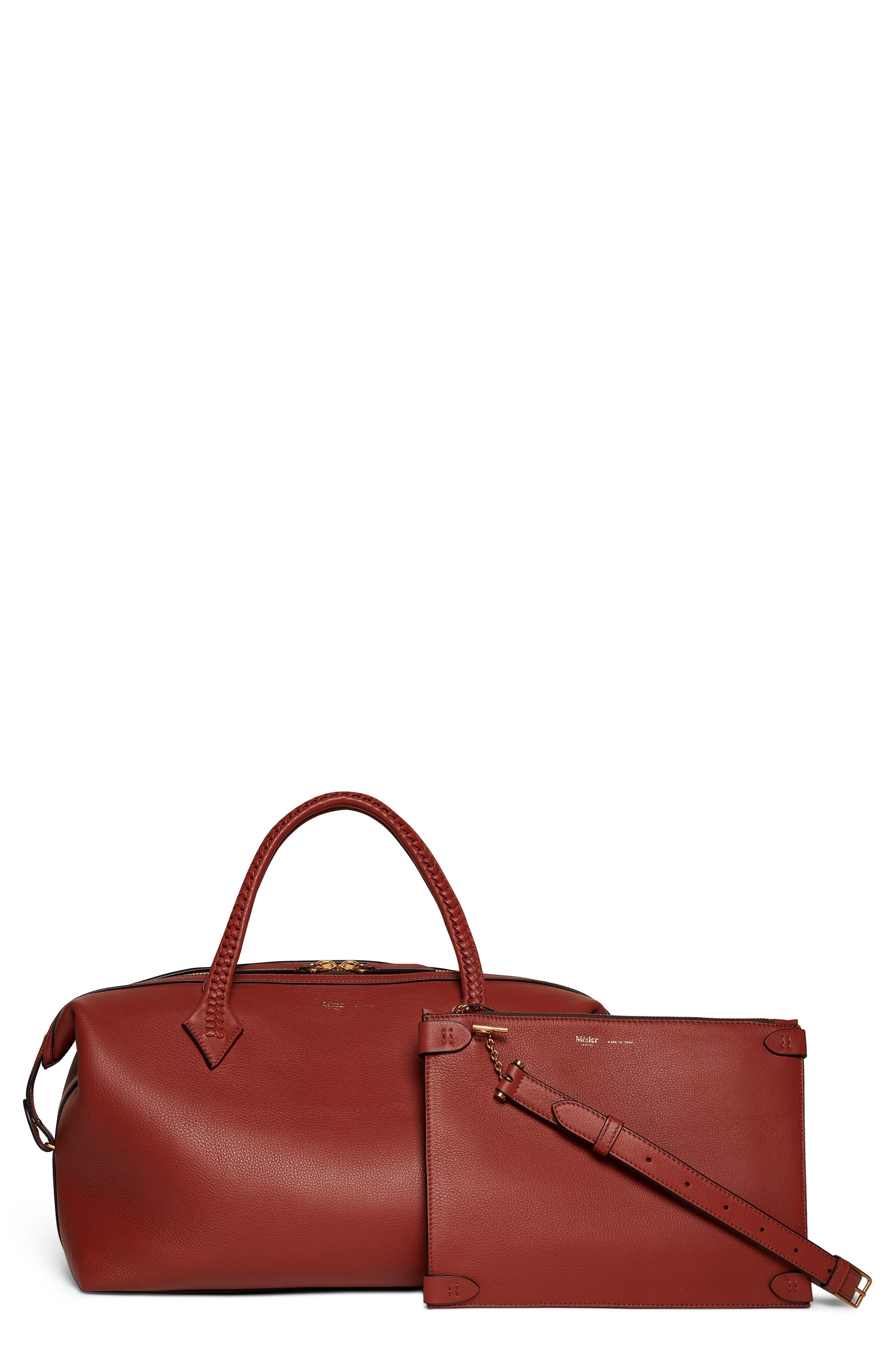 Perriand City Leather Duffel Handbag
