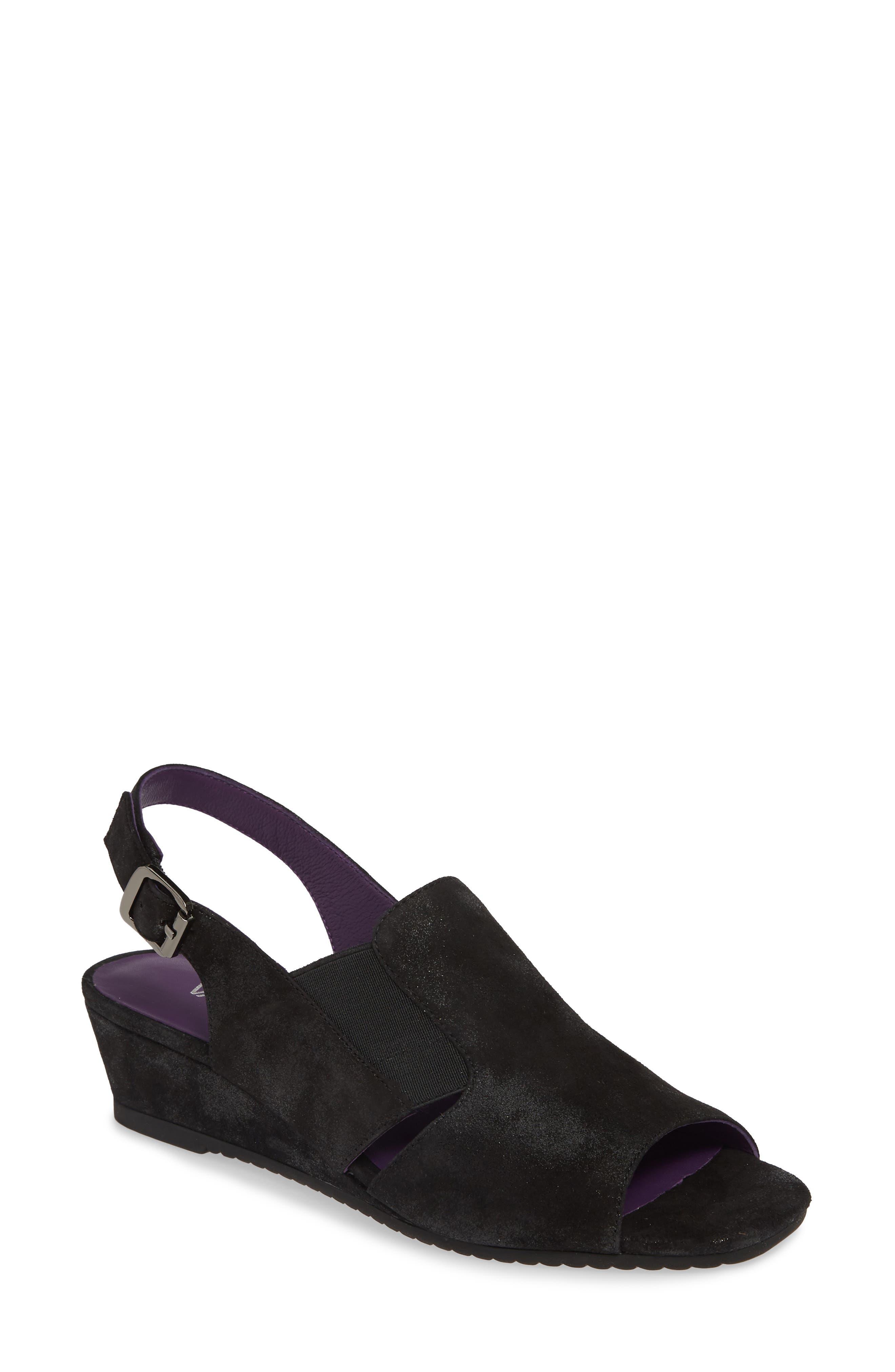 Vaneli Flory Slingback Sandal- Black
