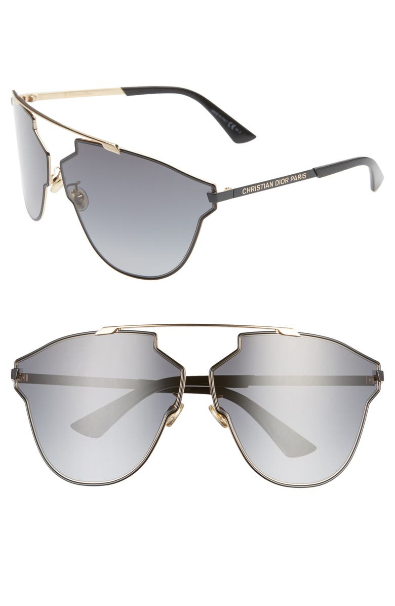 DIOR Sorealfass 69mm Sunglasses, Main, color, GOLD BLCK/ DKGRAY GRADIENT