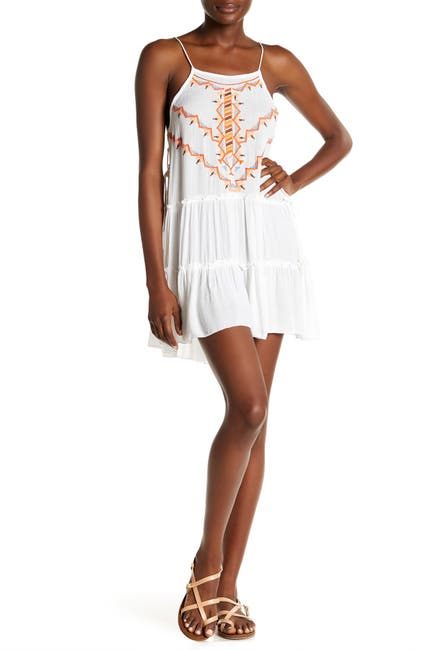Image of BOHO ME Sleeveless Embroidered Cover-Up Dress