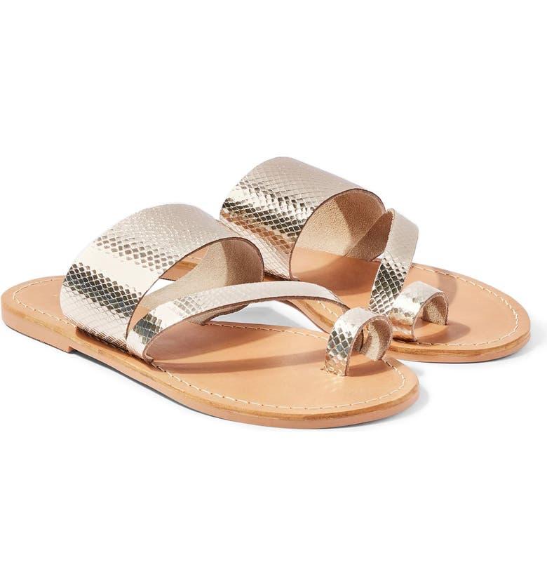 TOPSHOP Honey Slide Sandal, Main, color, GOLD
