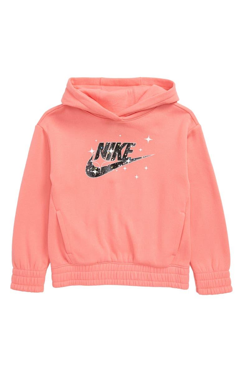 NIKE Sportswear Starry Night Hoodie, Main, color, PINK GAZE