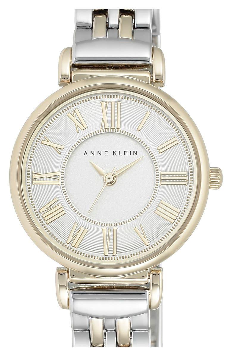 ANNE KLEIN Round Bracelet Watch, 30mm, Main, color, 040