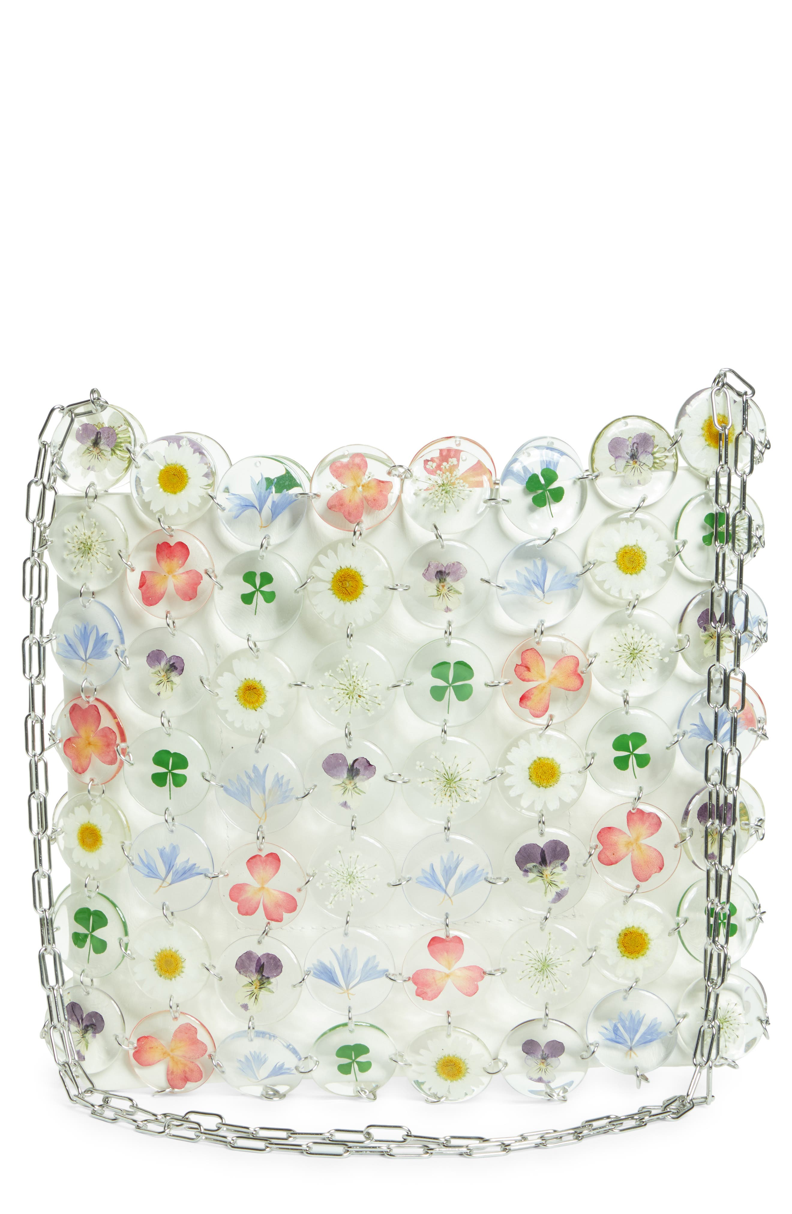 Large Multi Floral Chain Mail Bag