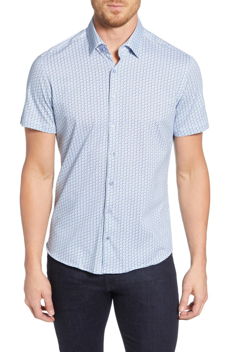 STONE ROSE Sailboat Regular Fit Shirt, Main, color, BLUE