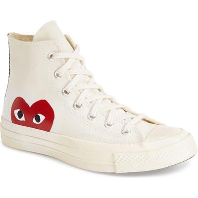 Comme Des Garcons Play X Converse Chuck Taylor Hidden Heart High Top Sneaker- White