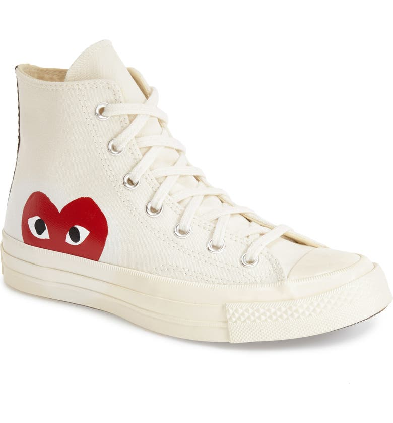 Comme des Garçons PLAY x Converse Chuck Taylor® Hidden Heart High Top  Sneaker (Women) | Nordstrom