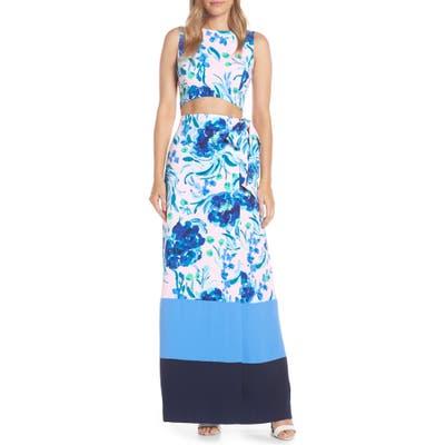 Lilly Pulitzer Jemma Crop Top & Maxi Wrap Skirt Set, Pink