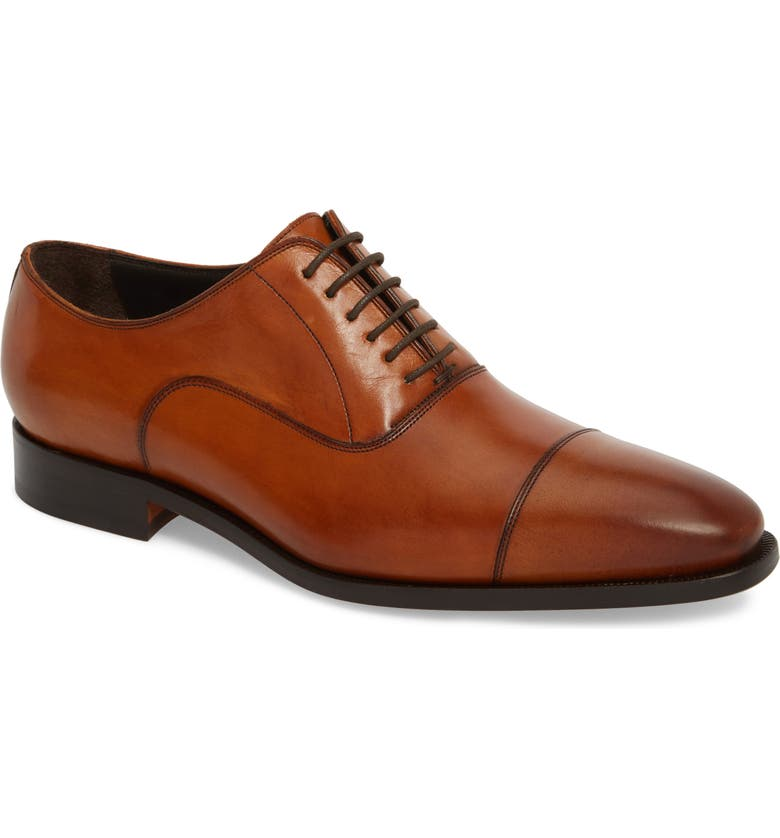 TO BOOT NEW YORK Knoll Cap Toe Oxford, Main, color, COGNAC LEATHER